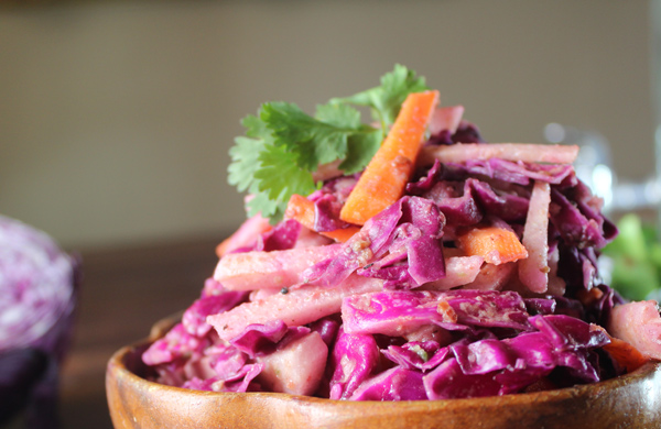 Sweet Spicy Jicama Slaw