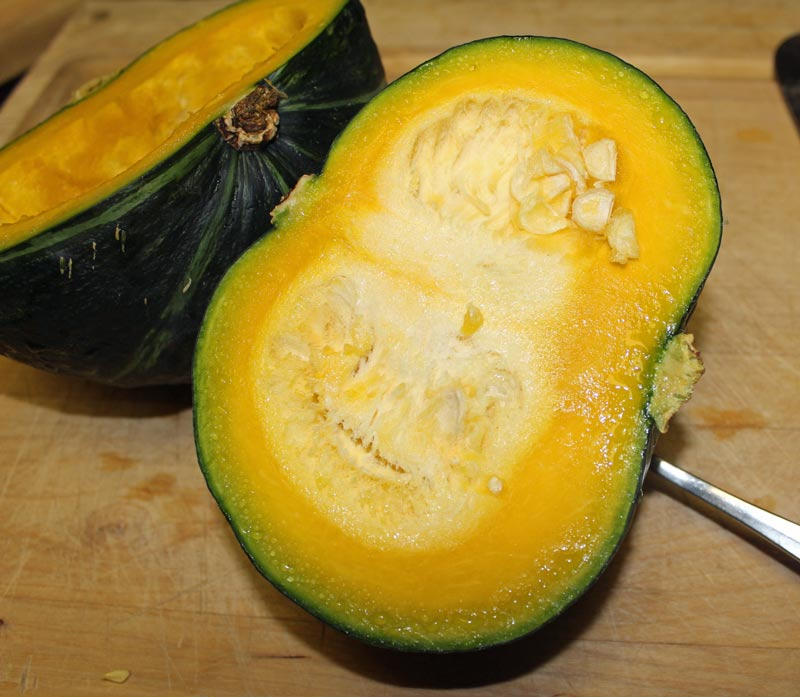 Kabocha Squash with seeds