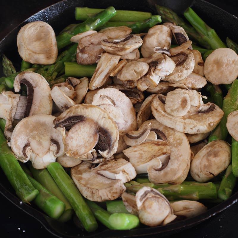 Asparagus Mushroom Bacon 15 Minute Side Dish