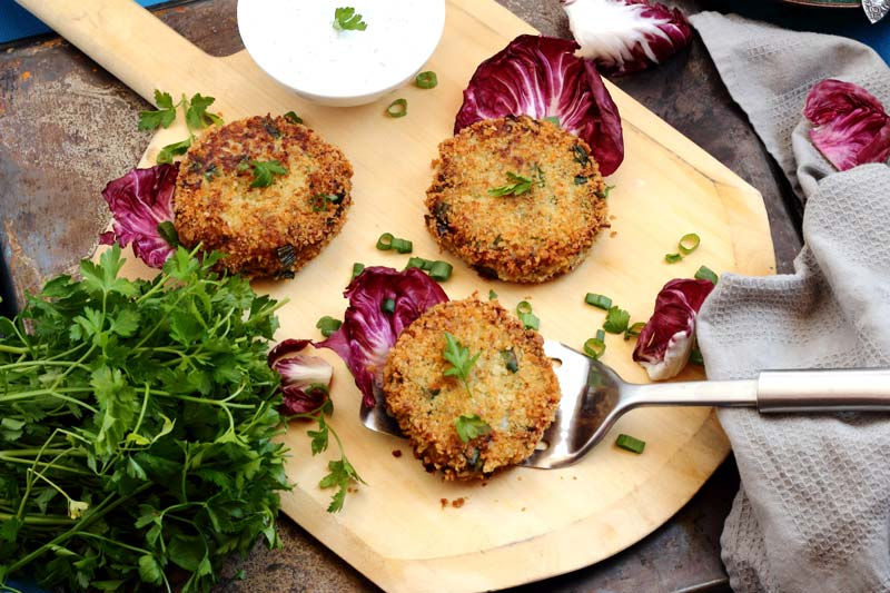 Old Fashioned Cod Cakes with Lemon Yogurt Dill Sauce