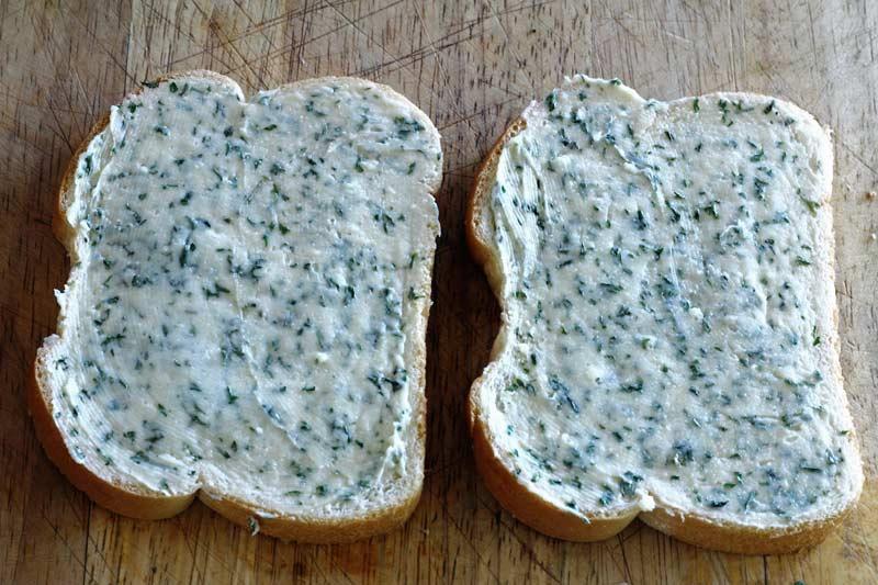 compound butter on Italian bread