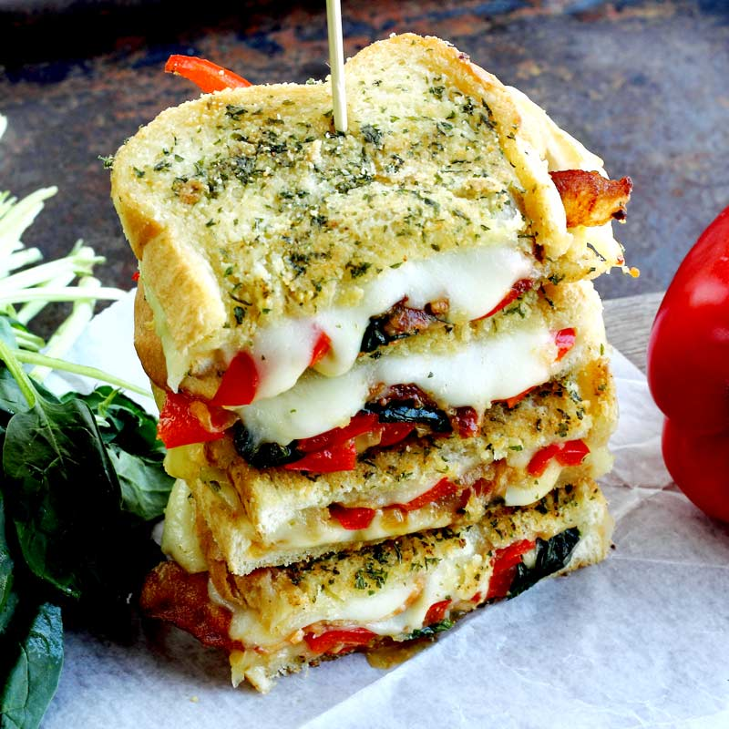 the best grilled cheese stacked
