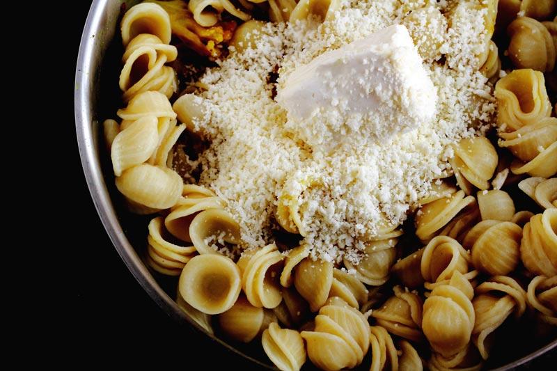 Warm Pasta Salad Creamy Roasted Cauliflower Onion and Orecchiette Warm Pasta Salad